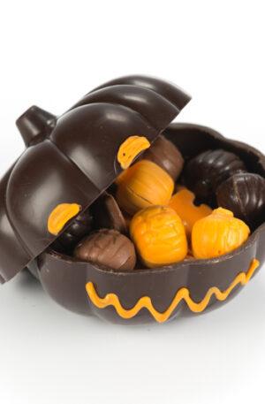 Bonbonnière halloween chocolat noir
